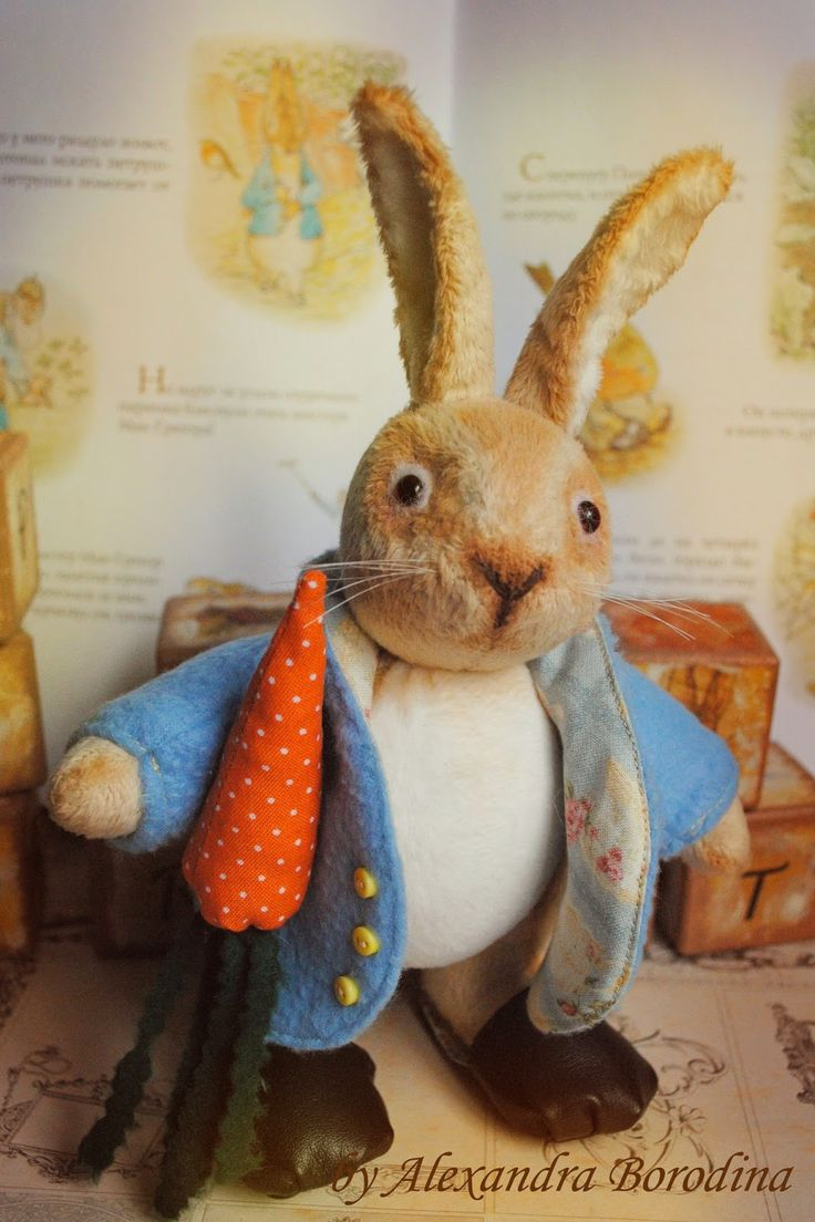 Art Therapy... Dolls, toys and others...: Кролик Питер Пуш - Peter rabbit