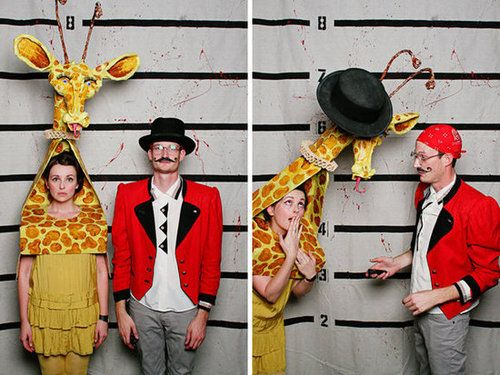 Circus Master and Giraffe