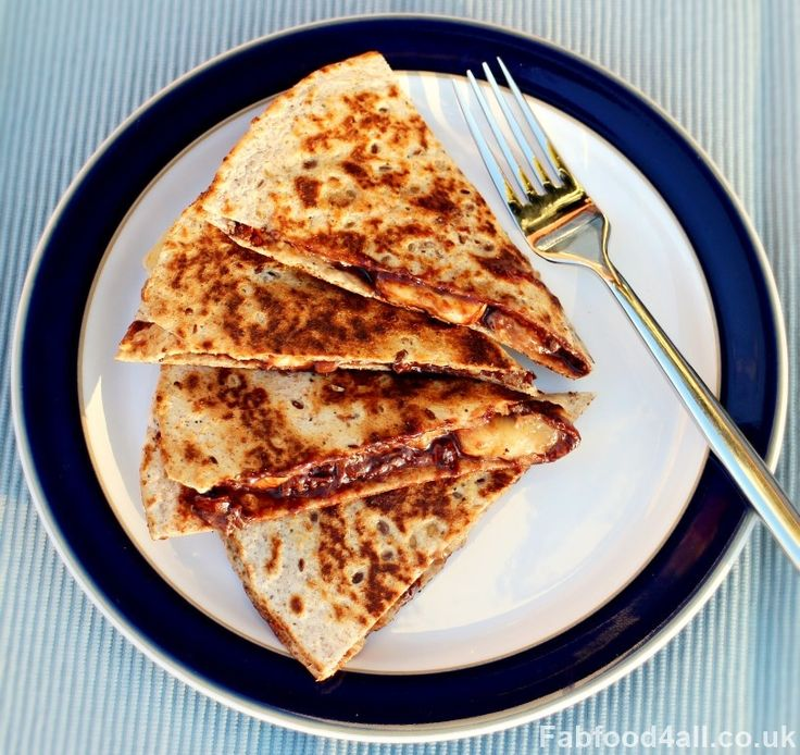Banana & Chocolate Quesadilla,