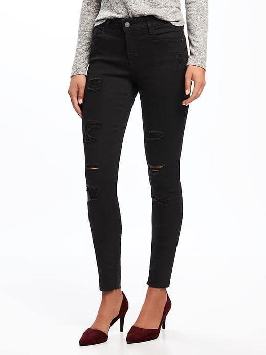 Mid-Rise Raw-Edge Rockstar Jeans for Women . These come in petite length!