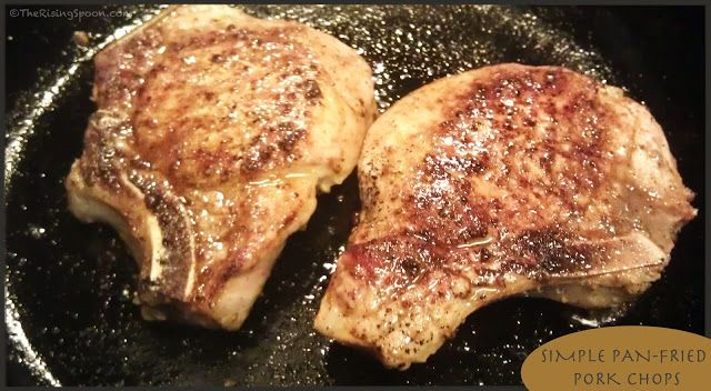 How to make Simple Pan-Fried Pork Chops. Only takes minutes and you can use the drippings to make a yummy gravy or beer pan sauce.