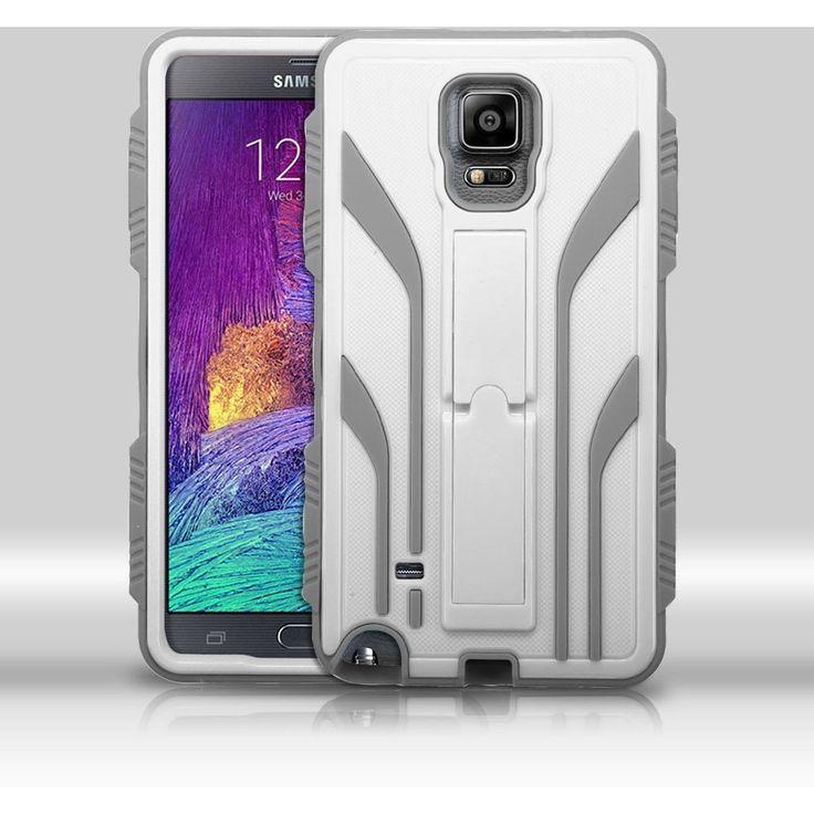 MYBAT TUFF Extreme Hybrid Galaxy Note 4 Case - Cream White/Iron Gray