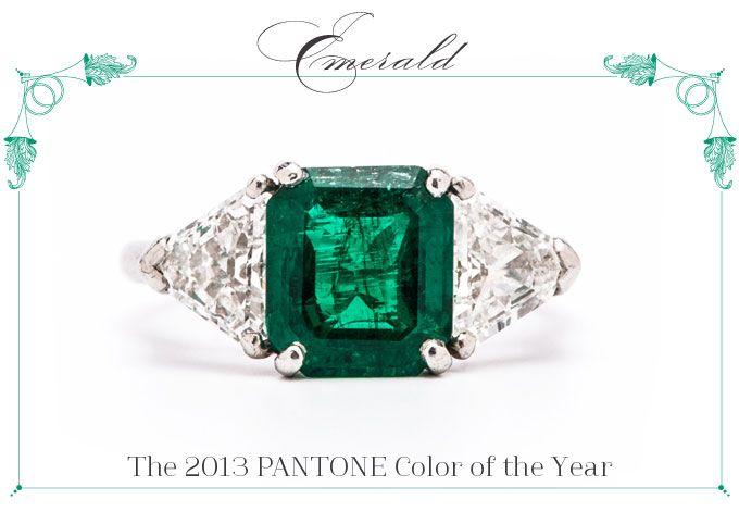 Vintage Emerald Engagement Ring Adairsville