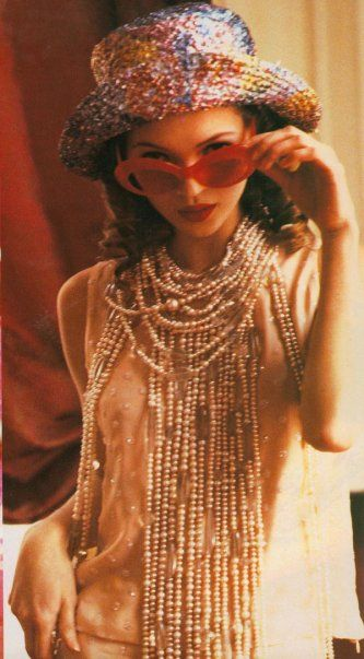 """Kate Moss for the """"Charming Lolita"""" 1992 Vogue Italia spread by Ellen von Unwerth"""