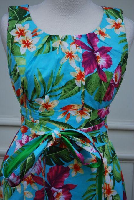 Katoenen jurk met kleurige bloemenprint - Lien en Giel