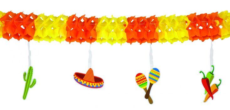 Ghirlanda colorata messicana su VegaooParty, negozio di articoli per feste. Scopri il maggior catalogo di addobbi e decorazioni per feste del web,  sempre al miglior prezzo!