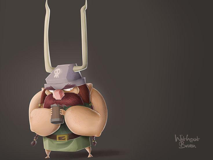 Grumpy Viking Cartoon Character #viking #character
