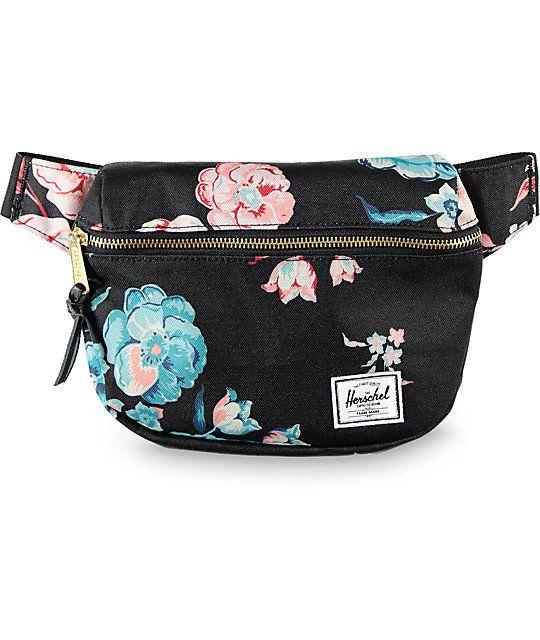 <b>This Item is available for Pre-Sale and will ship by 2/20/2017.</b><br><br>Add some floral spunk to your carrying necessities with the Fifteen Floral 1.25L Fanny Pack from Herschel Supply Co. A single front brass zipper grants access to a good size pou