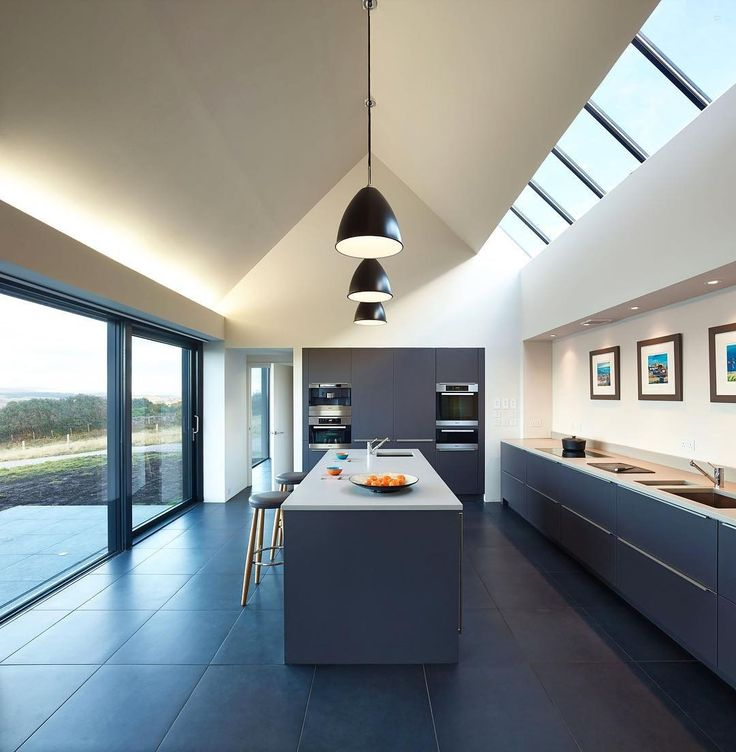 A secluded residence by @dualchas on a British peninsula takes inspiration from a nearby storage shed and includes a gabled rooftop sheltering a minimalist kitchen. : Andrew Lee. #architecture #interior #design #interiordesign #kitchen #house... - Interior Design Ideas, Interior Decor and Designs, Home Design Inspiration, Room Design Ideas, Interior Decorating, Furniture And Accessories