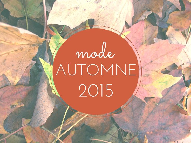 Guide shopping mode automne 2015