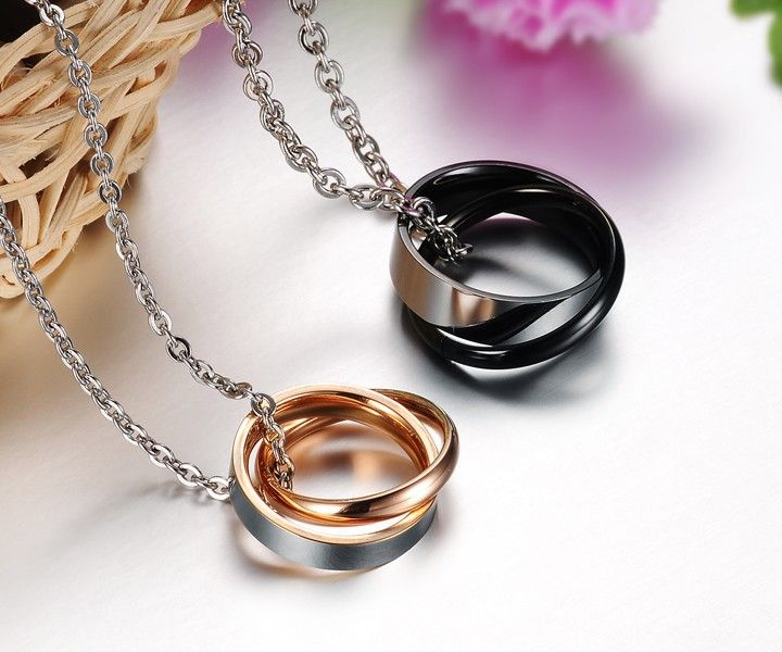 Top quality Stainless steel Couple Pendants pendant choker and gold necklace for women