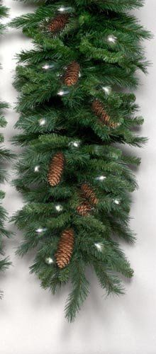 Cheyenne Pine Artificial Christmas Garland with Lights