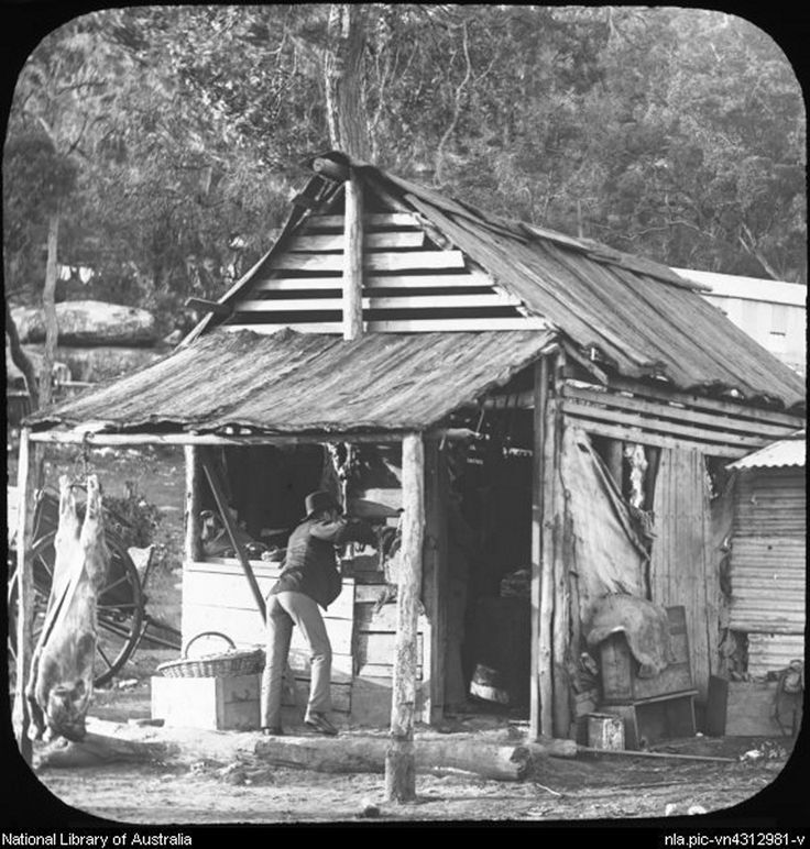 Bush store at Peats Ferry on the Hawkbury River, NSW. ca. 1887. Photo shared by the National Library of Australia. v@e.