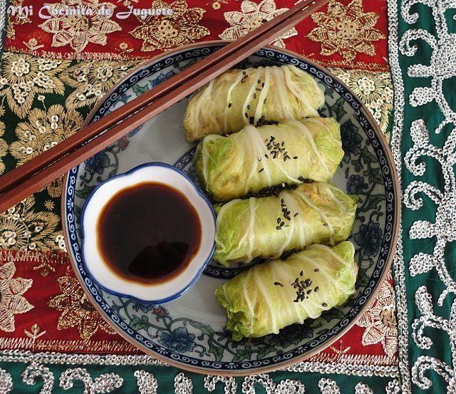 Rollos De Col China Al Vapor Recetas De Comida China