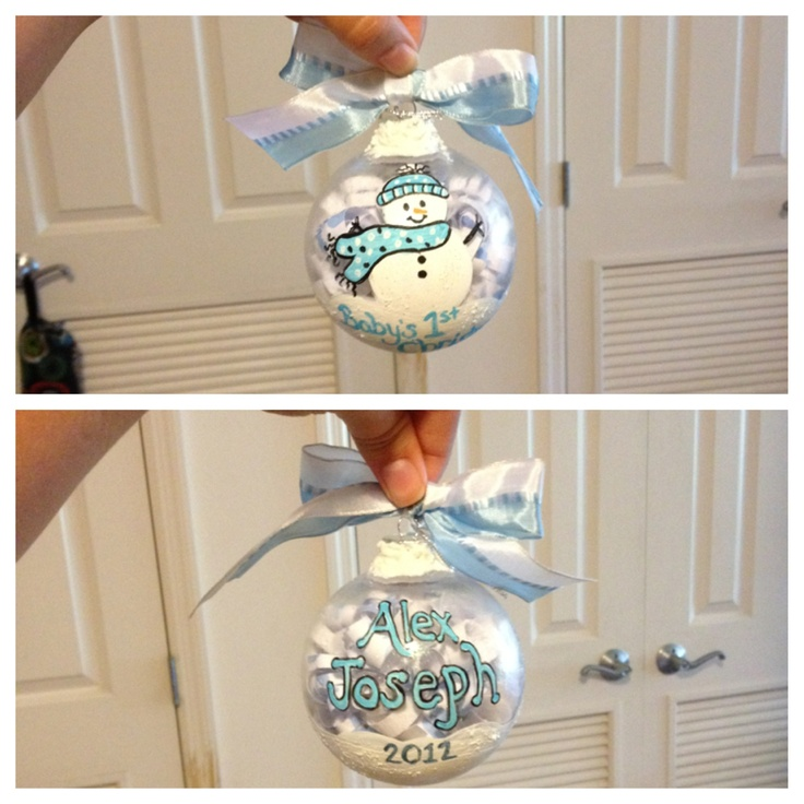 Hand painted Baby's first Christmas Ornament