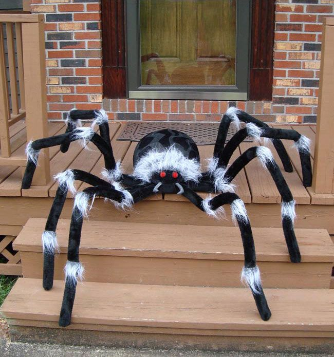 diy halloween spiderwebs made of black puff paint description from pinterestcom - Giant Spider Halloween Decoration