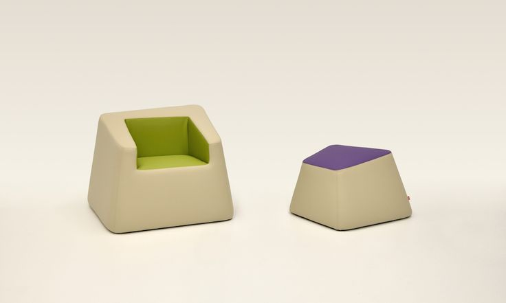 """Bon Bon armchair and footstool in the colours of nature and flowers, to match the """"naturalmentechic"""" module for hospitality. Design: Daniele Menichini[x] close"""