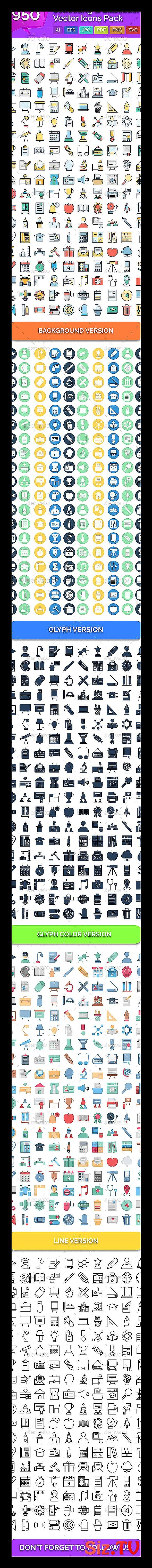 950 Schooling  038  Education Vector Icons Pack  F #classpintag #customisable #E…