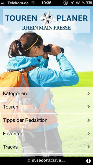 Mit der Tourenplaner-App der Rhein Main Presse finden Sie die reizvollsten Rad- und Wanderwege im Rhein-Main-Gebiet und seinem Umland.