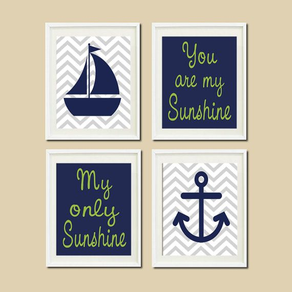 Nautical Nursery Sailboat Anchor You Are My by LovelyFaceDesigns, $35.00