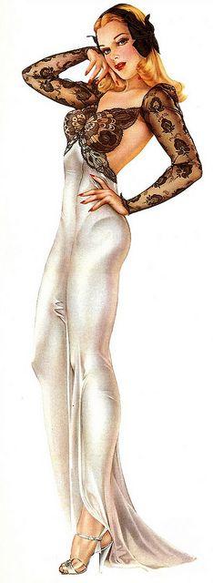 Alberto Vargas #Alberto Vargas Vintage Pin Up Girl Illustration #Pin-Up Girls #PinUp #Art #Vintage #Illustration #Alberto Vargas