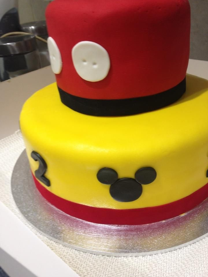 Mickey Mouse cake for a 2nd birthday
