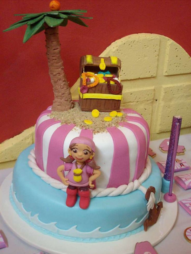 Izzy cake at a Jake and the Neverland Pirates party! See more party planning ideas at CatchMyParty.com!