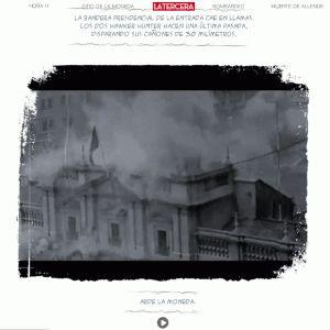 Grabación del bombardeo del Palacio de la Moneda, en cuyo interior seguía el presidente Allende