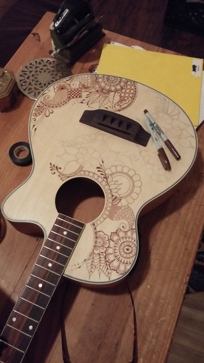 Henna Bass Guitar In progress by jlynch2000 on deviantART