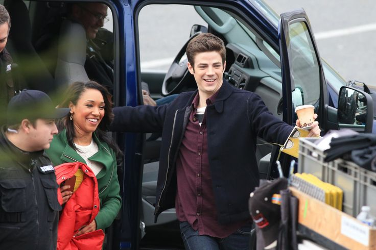"Grant Gustin and Candice Patton film scenes for the hit CW show ""The Flash"" on January 7, 2015 at Vancouver Park in Vancouver, Canada. Grant and Candice can be seen filming a romantic first kiss scene by the water. Part 3 [26 HQ Photos from NHorsley FameFlyNet]"