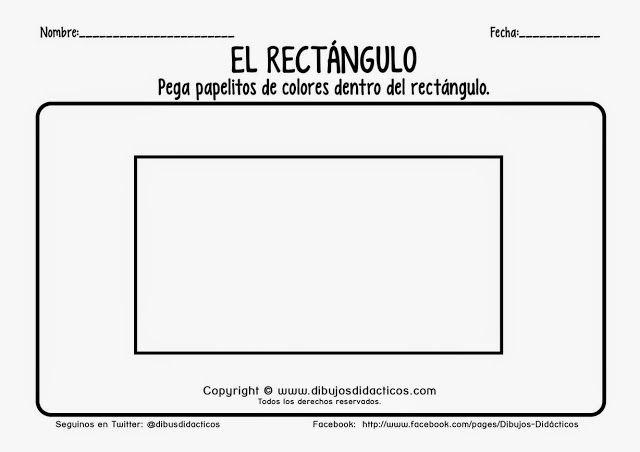 Trabajando En Educacion Infantil 10 Fichas Para Identificar El Rectangulo Fichas Educacion Infantil Educacion