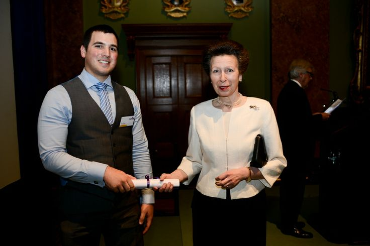 HRH The Princess Royal and Alex Collyer, our runner up in the Edith Cavell Leadership Award category