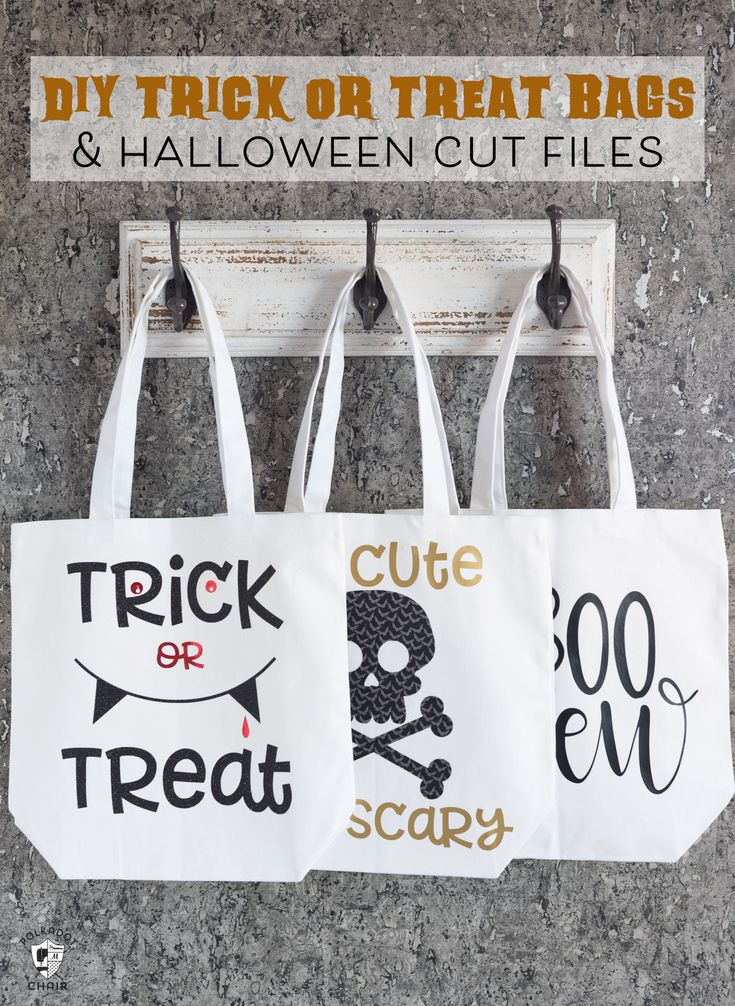 How to Make Trick or Treat Bags and Free Cricut Halloween