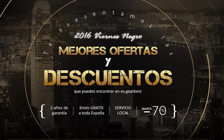 Llega el Viernes Negro 2016 para Gearbest España, con muchos productos rebajados en los almacenes locales, envío gratis para España y garantía de 2 años.