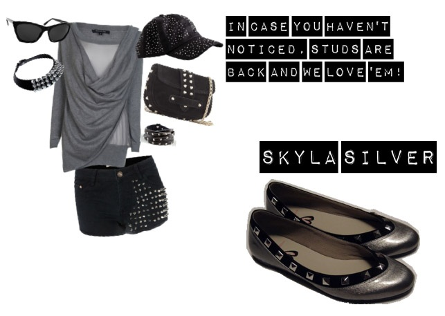 Get studded with Wondershoe's Skyla Silver ;)