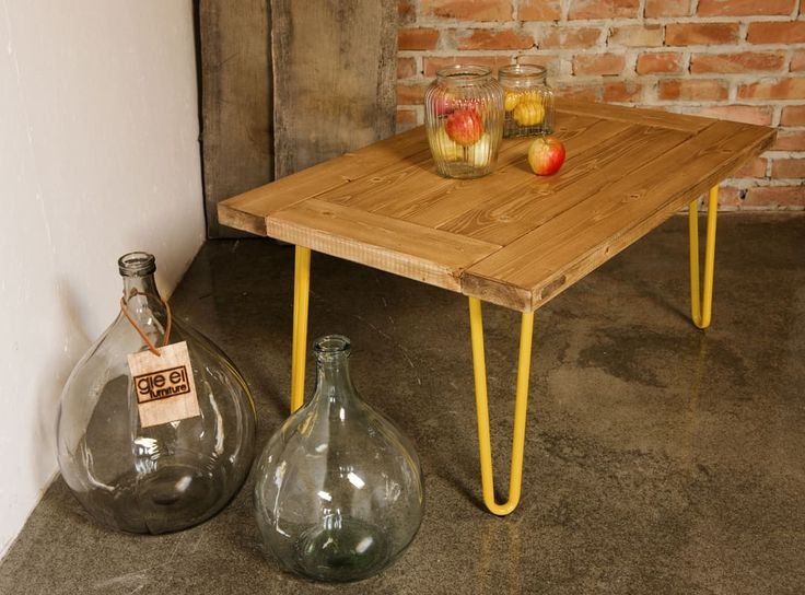 GIE El Yellow Hairpin Leg Coffee Table - Design Shop