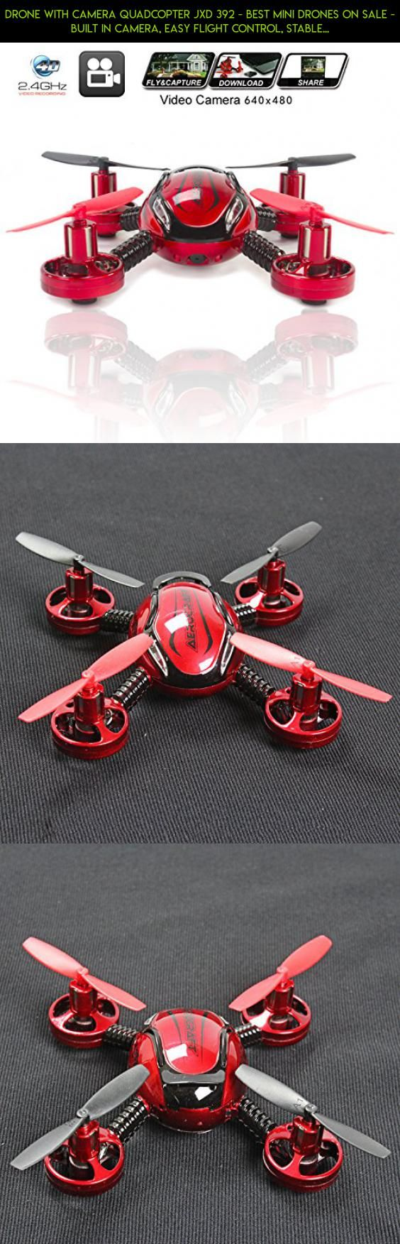 Drone with Camera Quadcopter JXD 392 - Best Mini Drones on sale - Built in Camera, Easy Flight Control, Stable Landing, Fast Response Remote, 4GB SD Card & Reader - KiiToys® USA Warranty #plans #kit #products #battery #external #gadgets #tech #fpv #camera #technology #shopping #parrot #drone #parts #racing #charger