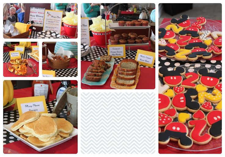 Mickey Mouse Birthday Party Food & Menu for a Breakfast Party in your jammies! - all things DIY