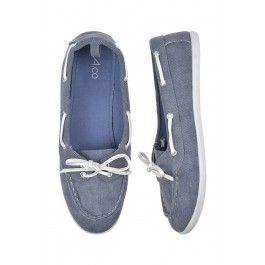 Blue boat shoes