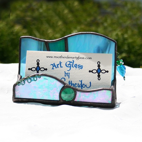 Business Card Holder by M. Sotherden Art Glass