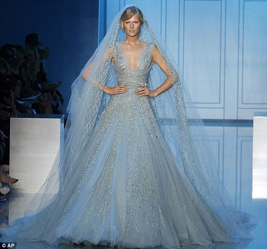 Elie Saab gowns just sparkle and shine, they would look amazing a bride who wants a less traditional gown.