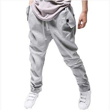 estilo coreano de los hombres se divierte los pantalones ocasionales del harem de largo (botón al azar) – USD $ 21.69