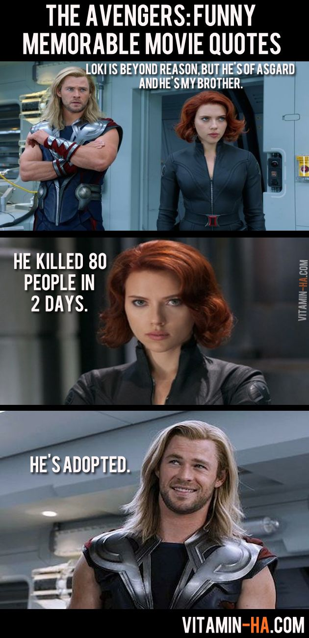 The Avengers Movie: Funny Memorable Quotes (7 pics) | Vitamin-Ha