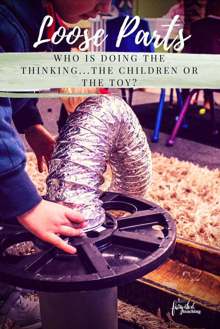 """Loose Parts: Who is doing the thinking. . . .the children or the toy?  """"We should have busy children, not busy toys!"""" Magda Gerber, RIE Approach #ReggioInspired #ECE #LooseParts"""