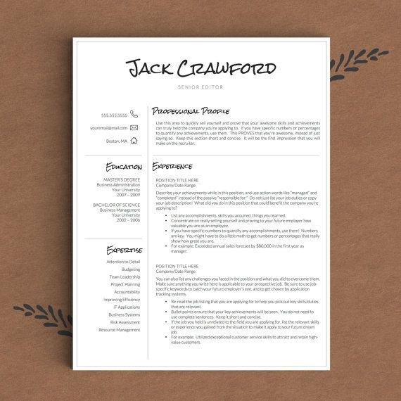 1000  images about professional resume templates on pinterest