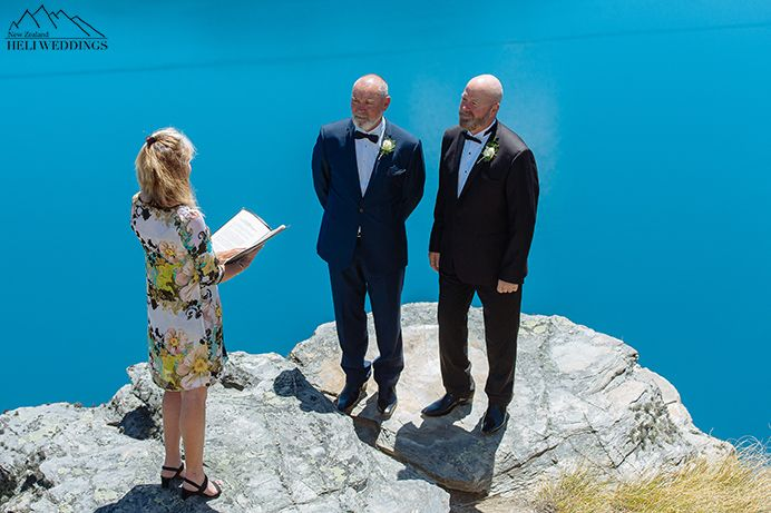 same sex wedding,heliwedding, the ledge, queenstown wedding