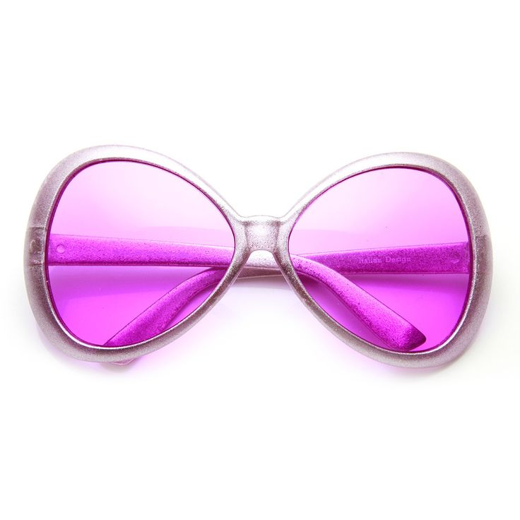 Super Oversized Bow-Tie Color Tinted Lens Fun Party Novelty Sunglasses