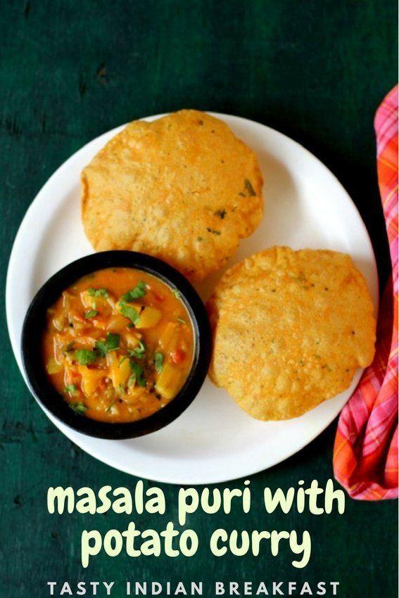 Masala Poori Recipe Puri Recipes Food Recipes Indian Breakfast