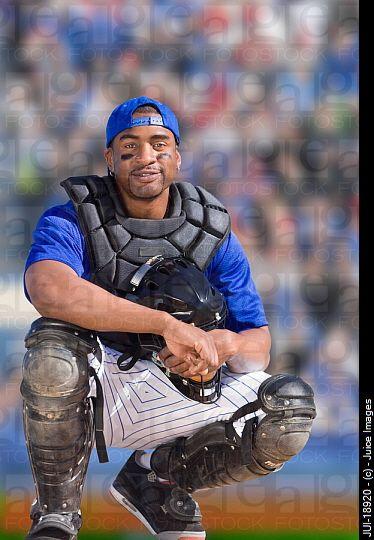baseball catcher portrait