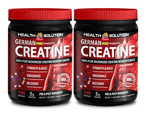 Creatine vitamins - GERMAN CREATINE CREAPURE MONOHYDRATE 500 GRAM 100 SERVINGS - help lean muscle mass (2 Bottles) * Check out this great product.